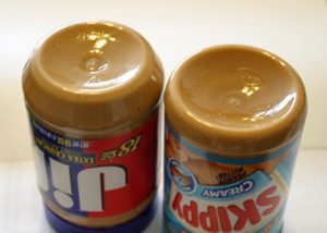 18 oz Jif and 16.3 oz Skippy